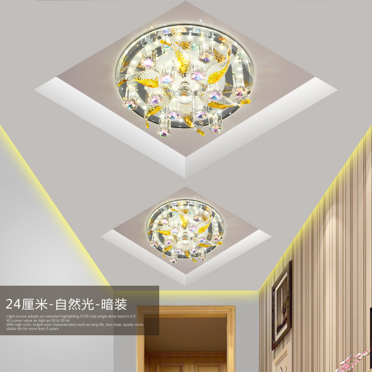 Aisle lights corridor ceiling LED lamps porch lights round doors sky lanterns colorful crystals ceiling lamps creative lamps ZA(China (Mainland))