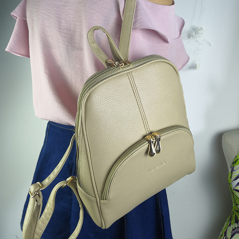 Nevenka Women Backpack Leather Backpacks Softback Bags Brand Name Bag Preppy Style Bag Casual Backpacks Teenagers Backpack Sac13