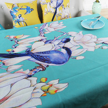 Classical Chinese style plants Floral Table Cloth Cotton Linen Art Dining Tablecloths Rectangular Table Cover / Decorative Cloth