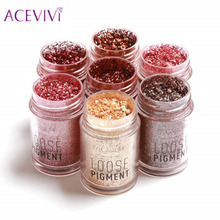 ACEVIVI 12 Colors Diamond Bright Makeup Eyeshadow Cosmetics Loose Powder Glitter Shimmer Eye Shadow Body Face Nail Makeup