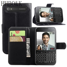 "High Quality Wallet Style Case For Blackberry Classic Q20 (3.5""inch) PU Leather Flip Cover With Stand Function and Card Holder"