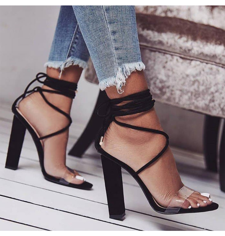 Women Pumps 2018 Summer High Heels Sandals PVC Transparent Women Heels Wedding Shoes Women Casual Waterproof Sandalia Feminina 5