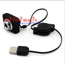 by dhl or ems 100 pieces top quality Mini USB 5M Retractable Clip WebCam Web Camera for Laptop 100% Brand New