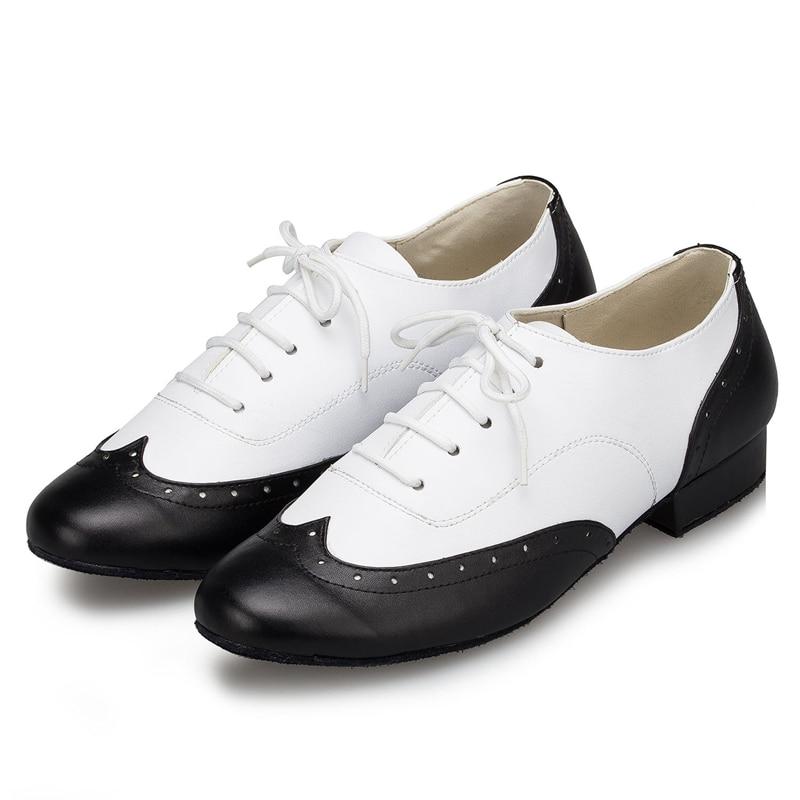2017 Men Latin Dancing Shoes Ballroom Tango Salsa Professional Dance Shoes Adult Boy Legend Black White Square Soft Soled L147<br><br>Aliexpress