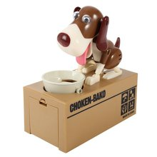 New Designer Puppy Hungry Eating Dog Coin Bank Money Saving Box Piggy Bank Children's Toys Decor Interesting Children's Gift