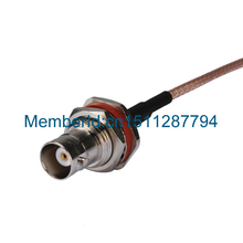 2015 Top Brand RG316 30cm BNC jack female bulkhead to MCX male right angle pigtail cable(China)