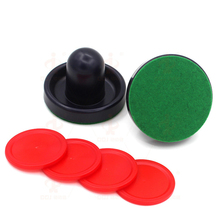Set of 2pcs Air Hockey 76mm Blue Pushers + 4pcs 51mm Red Pucks Small Size Replacement for Child Air Hockey Accessories(China)