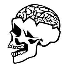 Skull Brains Creative Car Styling Vinyl Car Sticker Car Accessories Fine Decals can be attached to any flat surface(China)