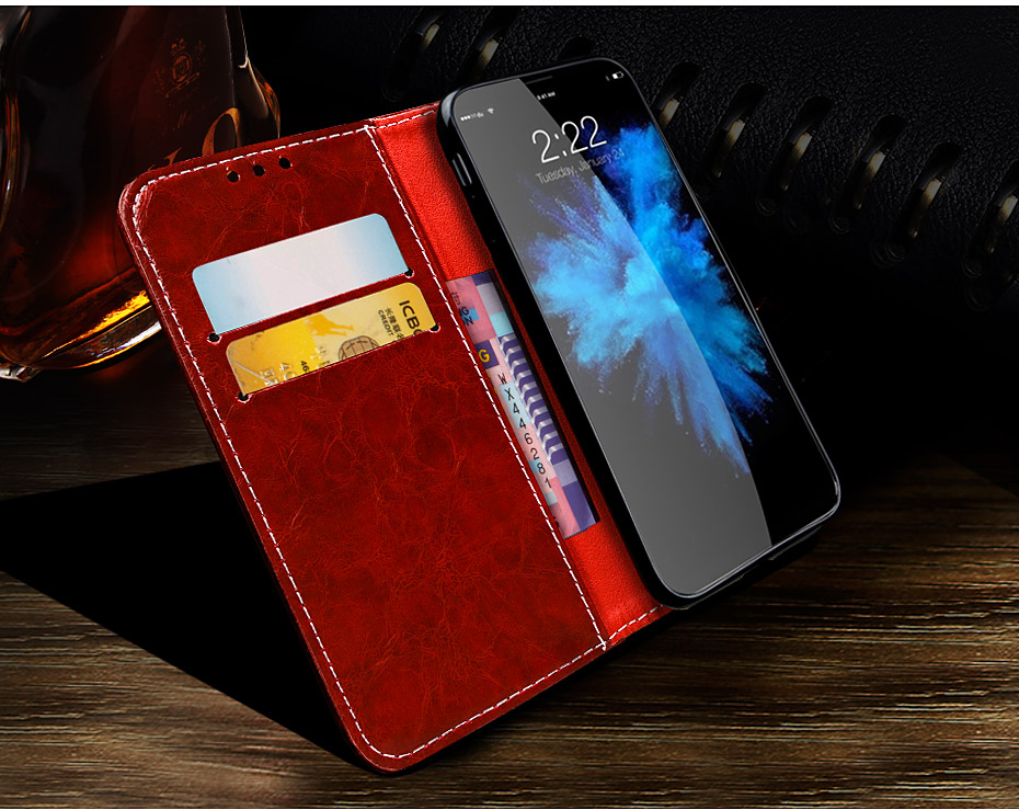 NKOBEE For iPhone X Wallet Case Luxury Case For iPhone X Case Leather Flip Book Cover For iPhone X Stand Case Coque Card Holder (5)