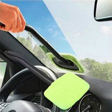 Microfiber Auto Window Car Cleaning Long Handle Car Wash Brush Dust Car Care Windshield Shine Towel Handy Washable Car Cleaner(China)