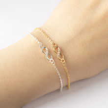 Buy Fashion Love Crystal Infinity Bracelet Women Micro CZ Paved Figure 8 Symbol Chain Bracelets Couple Eternity Jewelry bileklik for $1.52 in AliExpress store
