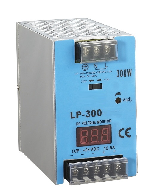 din rail LP-300-24 300W 24v 12.5a switching power supply ac-dc led driver with Digital display<br>