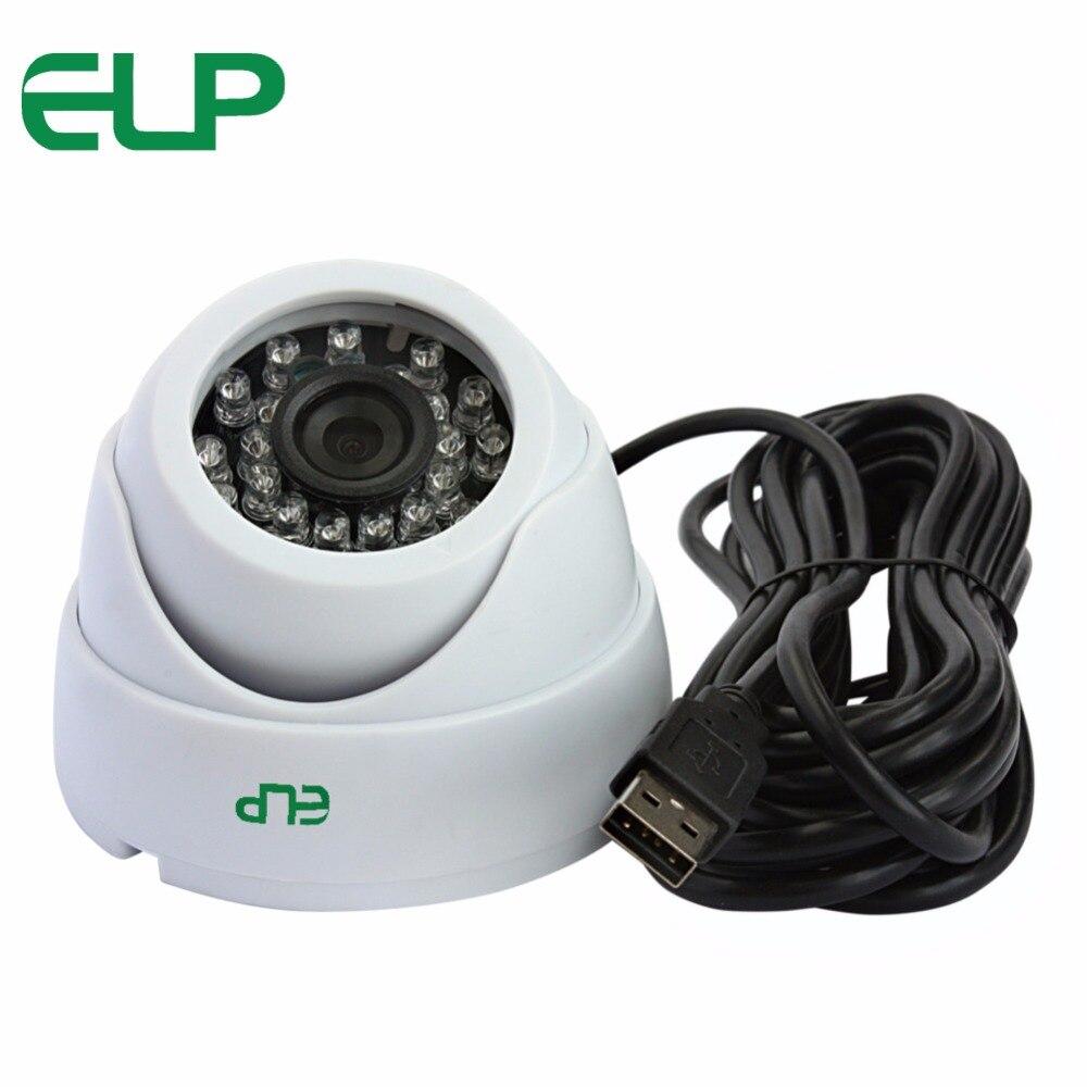640 x 480 VGA CMOS OV7725 6mm lens YUY2 MJPEG Night vision IR LED dome cctv security video usb camera for machinery equipment<br>