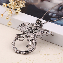 New Arrival high quality jewelry ice song and fire necklace Game Of Thrones Targaryen dragon necklace collar badge