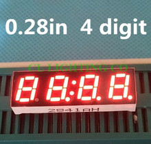 "Factory wholesale 4 Bit Common cathode 0.28"" 0.28in Digital Tube 0.28 inch Red LED 7 Segment Clock Digital Display(China)"