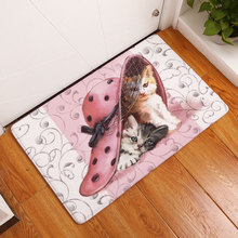 Cute Dogs & Cats Carpets Anti-Slip Floor Mats Bathroom Outdoor Rugs Door Mat Doormats , Tapete Para Banheiro , Bedroom Felpudo