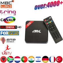 Android TV Box H96 Europe PTV box 1 year Power IPTV subscription Arabic UK Turkish Indian Germany France 4000 HD IPTV Channels