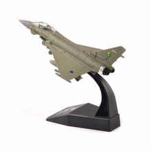 kids toys 1:100 Alloy Diecast Aircraft Airplane Model 1/100 Scale Toys UK 2008 Eurofighter model Toy for Collection boy gift(China)