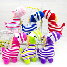 New Cute 1pcs 20cm Colorful Stripes Small Forest Zebra Plush Toy Adorable Horse Soft Stuffed Animals Dolls Baby Toys Kids Gifts