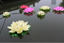 imitated lotus floating flowers for aquarium fish pond garden pool decoration ornament(China)