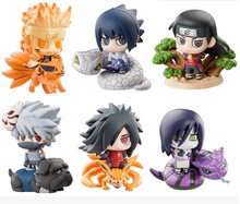 6pcs/lot 6cm Anime Naruto Figure Toy Sasuke Kakashi Sakura Gaara Itachi Obito Madara Killer Bee Mini Model Doll