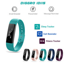 ID115 Smart Wristband Activity Tracker Sleep Monitor Counter Fitness Sports Alarm Clock Vibration WristBracelet fit bit miband2