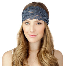 1 PC Stylish Women Lady Lace Wide Elastic Headband Bandanas Head Wraps Hairband Hair Band Accessories Exercise Ornaments  Jan13