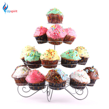 Four Layer Cake Stand 23 Cups Birthday Party Cupcake Holder Metal Stainless Steel Wedding Decoration Display Rack