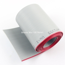 2M Meter / 6.6FT 1.27mm Pitch 40 Pin Wire Gray Flat Ribbon Cable For 2.54mm FC Connector