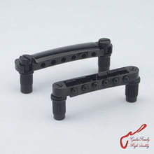 1 Set Black GuitarFamily Tune-O-Matic Electric Guitar Bridge And Tailpiece For Epiphone Schecter LTD