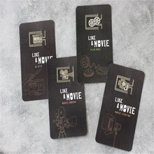 4 pcs/lot creative movie props bookmark stationery metal bookmarks for book holder school supplies papelaria(China)