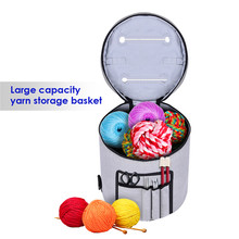 Yarn Storage Bag Organizer with Divider for Crocheting & Knitting Organization. Portable Yarn Holder Tote for Travel.