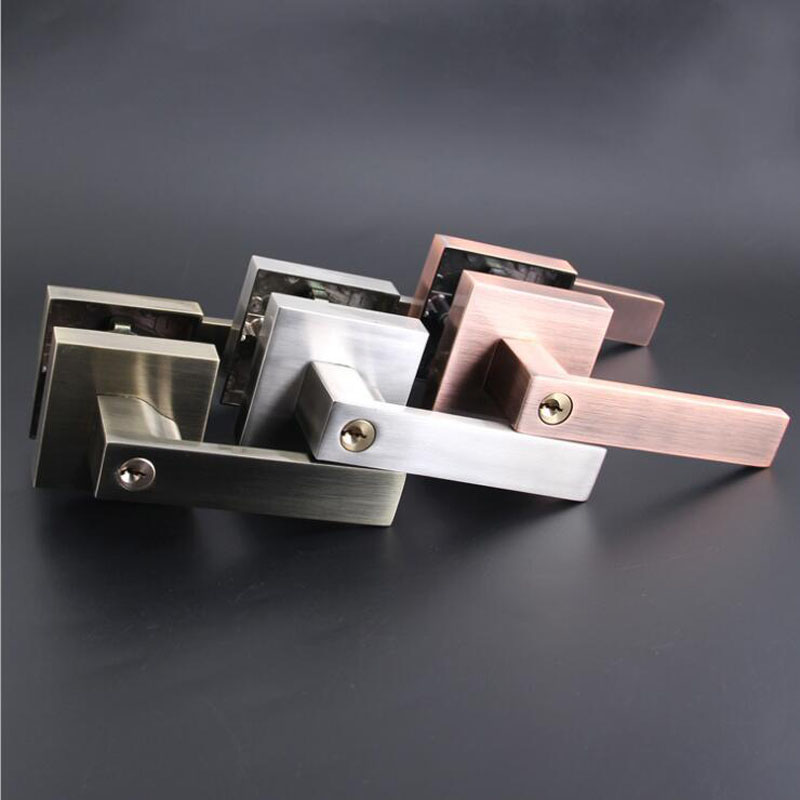 Security Door Lock With Key Safe Lock Satin Nickel Door Handles Entrance Locker Brass DL702<br>