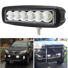 6 INCH 18W Barra LED Bar Offroad Work 4X4 Off Road Light Spot Flood Fog Lamp SUV Car Truck ATV UTV AUTO Motorcycle Driving Light