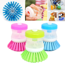 Hydraulic Dish washing brush Pan Pot Bowl Cleaning Brush Rust Remover Cleaning Stick Wash Kitchen helper