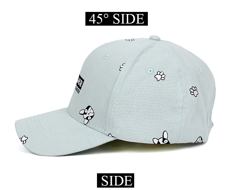 Embroidered Paw Prints and Love You Forever Cap - Side View