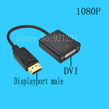 2pcs/lot New Computer Cable Hdmi with 1080P Displayport DP Male to DVI Female M/F Adapter Converter Vga Cable(China)