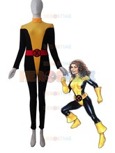 X-men Kitty Pryde Costume Yellow and Black Spandex Superhero Costume Halloween Cosplay Costume(China)