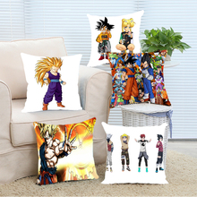 Dragon Ball Z Characters  Custom Printed Christmas Decorate Cushion Cover Fashion Throw Pillows 2 Sides Print
