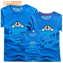 Family suits Cartoon Style Family Matching Outfits Summer Men's T shirts Cotton Ddcat Brand Children's Clothing 13 Color T-shirt