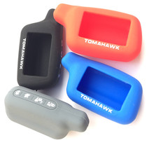 Silicone Rubber Case cover For Tomahawk X5 LCD Remote controler Only Two Way Car Alarm Tomahawk X5 Silicone Case Cover(China)