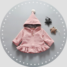 new 2017 winter girls hooded jacket baby cardigan jackets Coat Outwear  Children 's clothing  0-3 year PINK Red 129