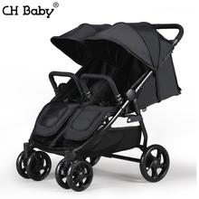CHBABY High Landscape Twin Baby Stroller newborn travel trolley folding baby stroller Four Wheel Shock Absorbers can separate(China)