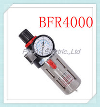 "Free Shipping 1/2""  BFR-4000 Source Treatment Unit Pneumatic Air Filter Regulator With Pressure Gauge + Cover BFR4000"