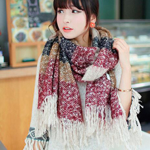 100pcs/lot Women Casual Patchwork Winter Scarves Lady Mohair Scarf Long Size Warm Fashion Scarves Wraps