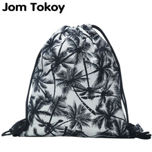 2017 new fashion backpack 3D printing travel softback man women harajuku drawstring bag mens canvas backpacks