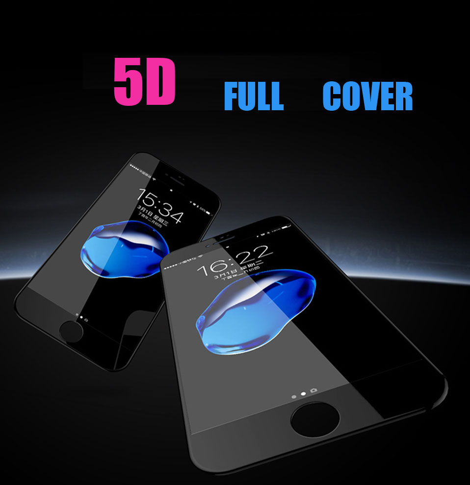 5D Glasses for iPhone 6 6s plus Glass Film Full Cover iphone6 Screen Protector for iPhone 6 6s 7 8 plus x Tempered Glass 3D 4D (1)