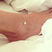 Simple Cute Foot/Leg/cheville Chain Anklets Bracelets Heart Shape Fashion Brand Vintage Jewelry For Women
