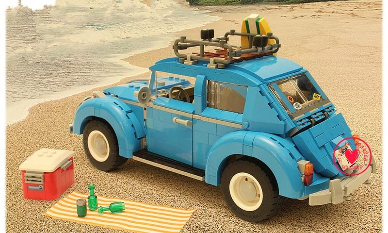 21003 City Car Beetle model Building Blocks bricks Blue Car Toy kid gift set kid gift set 10252 compatiable legoes technic<br>