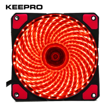 KEEPRO Original 33 Lights 120mm PC Computer LED Silent Fan 12V Luminous 3Pin 4Pin Plug Computer Case Heatsink Cooler Cooling Fan